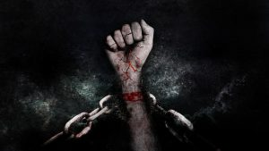 handcuffed hand