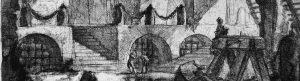 Medieval dungeon line drawings