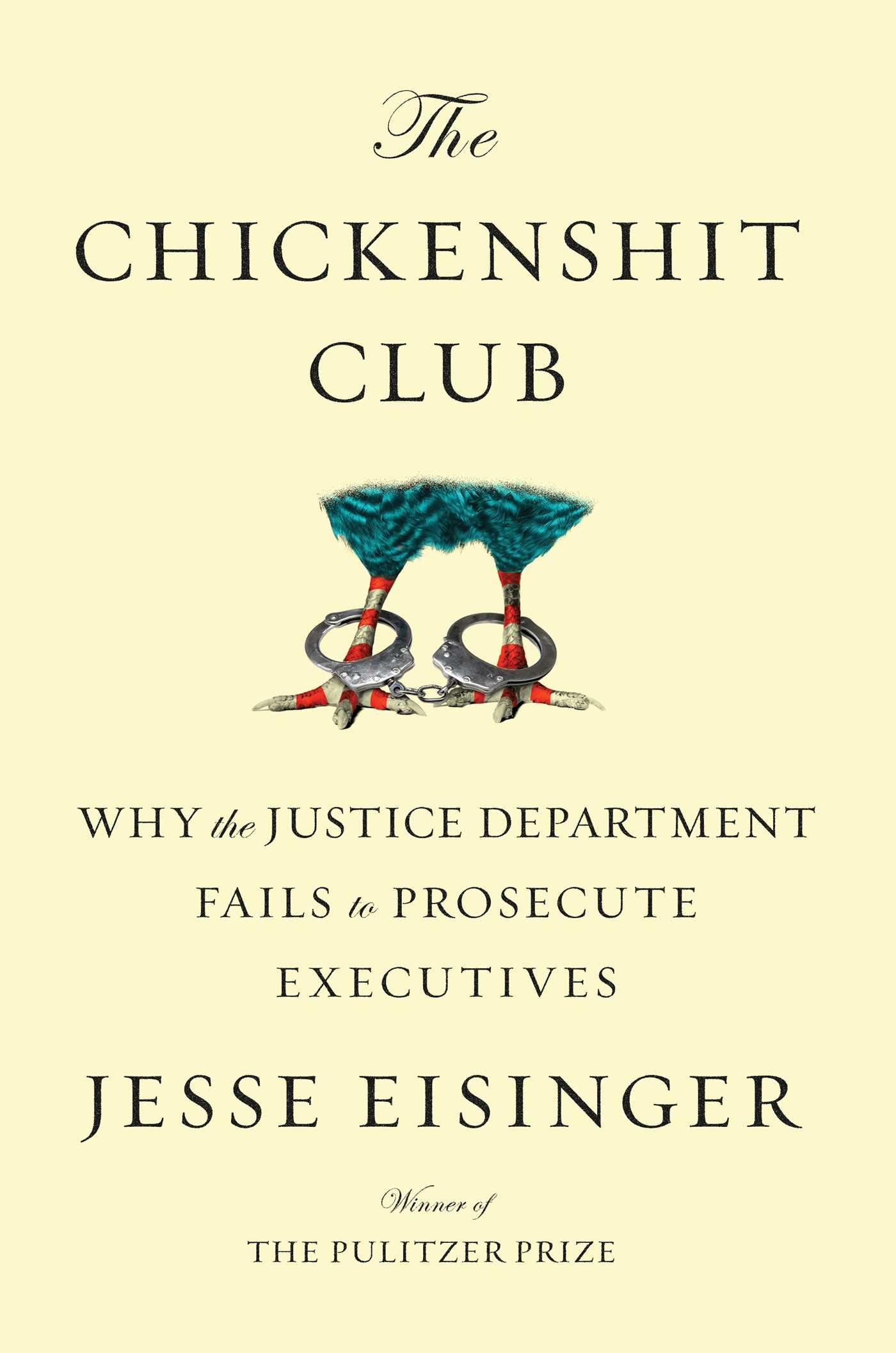 """jacket cover of book """"The Chickenshit Club"""