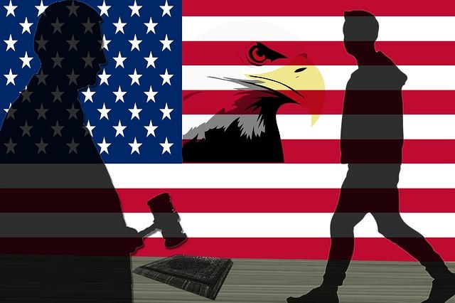 Flag, Eagle, Citizen, and Judge