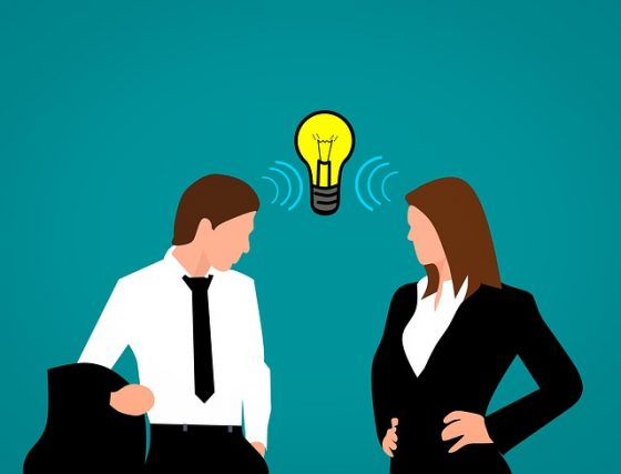Man, women, idea - design thinking