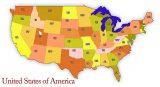 USA map lower 48