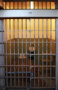 Rusty Alcatraz prison cell