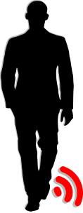 silhouette of man with GPS ankle monitor