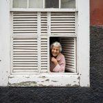 a smiling older women