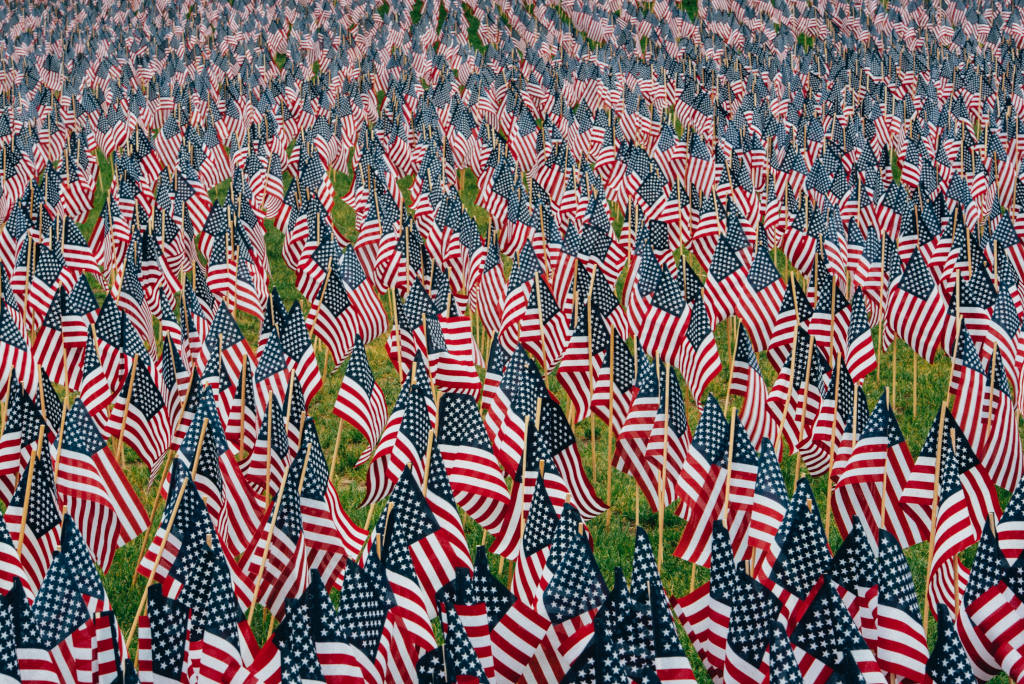 Memorial Day U.S. flags