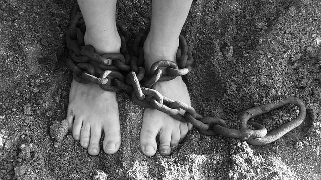 chained bound feet