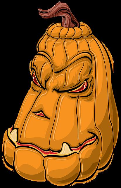 scary pumkin face