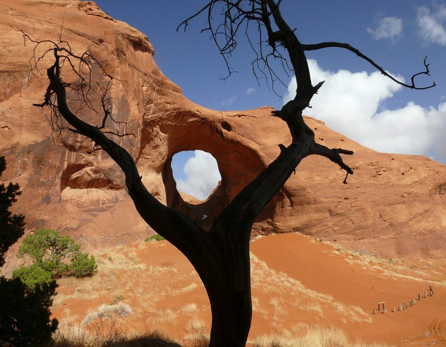 Ear of the wind arch in Utah USA